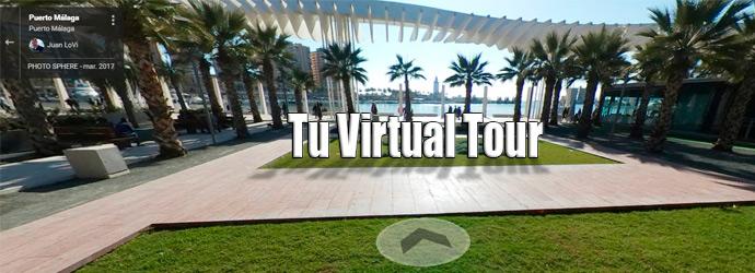 Tour Virtual palmeras puerto Málaga