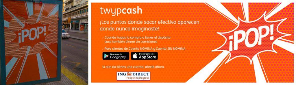Anuncio de ING Twyp Cash