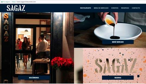 web restaurante sagaz